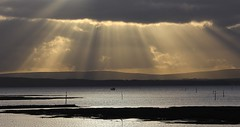 First Light On The Isle of Wight 281116 (2) (Richard Collier - Wildlife and Travel Photography) Tags: isleofwight sunrays shaftoflight coastal coastallandscape southcoast landscape seascape