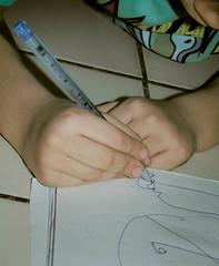 Desenhando (About Ray) Tags: desenhar dedinhos criança menino boy kid