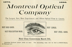 Montreal Optical Company (vieillespubs) Tags: 1896 montral