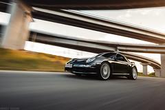 Porsche 997 (rigshot) (Andrey Baydak) Tags: porsche porsche911 911 997 carreras black coupe speed motion rigshot driving interchange bridges wideangle 1424 longexposure