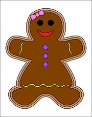 Gingerbread Girl (BethAnybody) Tags: coloring christmas cookie