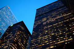 towers (Ian Muttoo) Tags: dsc77511edit toronto ontario canada gimp bluehour ufraw torontodominioncentre tdcentre miesvanderrohe cibc