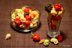 A full coloured glass (Frank Abbate) Tags: glass vetro peperoncini chili hot canon eos 80d 50mm