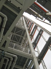 Open deck details of Shard #3 (streetr's_flickr) Tags: theshardoflondon highrise panorama tallbuildings structures architecture london city steelwork framing