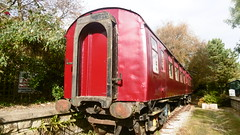 Old Mk1 carriage (AKA 'Oscar')at  Cloughton Station  (Scarborough - Whitby  old railway) (dave_attrill) Tags: scarborough whitby disused line trackbed route cinder path dr beeching report 1965 ner north eastern railway october 2016 cloughton old station oscar carriage holiday home camping platforms mk1
