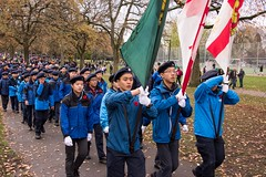 20161111_0052_1 (Bruce McPherson) Tags: brucemcphersonphotography remembranceday southmemorialpark southmemorialparkcenotaph cenotaph vancouverpolice vpd cadets marchpast march marching autumn fall fallleaves memorial vancouver bc canada