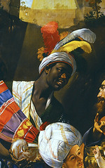 Juan Batista Mano Adoration of the Kings (bigger) Spain (c. 1612) This gorgeous (and massive) Adoration by Spanish painter Mano is on loan to the National Gallery for the first time in the UK for the exhibit Beyond Caravaggio, which explores the influen (medievalpoc) Tags: art history medievalpoc juan batista mano beyond caravaggio 1600s national gallery uk adoration magi kings