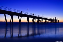 Glenelg Jetty (Sougata2013) Tags: adelaide southaustralia australia jetty glenelg beach landscape sea nikond7200 sunset evening