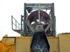 Sand Sifter (mikecogh) Tags: glenelg sandcarting sifter tray machine water ripples