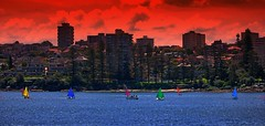 IMG_1165 Beach heat 'a la' water paint (Rodolfo Frino) Tags: australia water boat heat ocean sea manly sydney cielo bright beach colour color boats cityscape coastline wow colorful colourful colorido colorida exposure sailing sailingboat colors multicolor multicolored multicoloured
