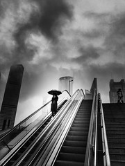 On a day like today, when it feels like yesterday~ Shanghai (~mimo~) Tags: urban city storm umbrella rain pudong escalator stairs mobile shotoniphone7 iphone7 iphone asia china shanghai