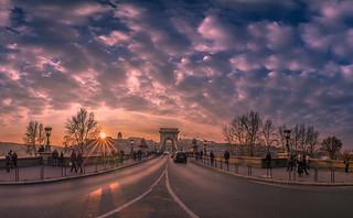 Sunset in Chain bridge