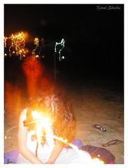 ...:::Espíritu:::... (Koral Skatha) Tags: playa luz obturador noche espectro espíritu fuego sanjuan lamanga calblanque juegos