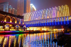 Wuhan - Reflections (cnmark) Tags: china hubei wuhan capital zhongbei road bridge river water reflections mirror reflection spiegelung bright light colorful colourful bunt licht night nacht nachtaufnahme noche nuit notte noite 中国 湖北 武汉 中北路 中北路桥 ©allrightsreserved
