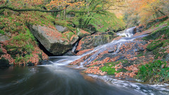 Cascade Bretonne._ (f.ray35) Tags: waterfall water long exposure st herbot finistère bretagne breizh automne autumn feuilles mortes river forest tree filé filter light
