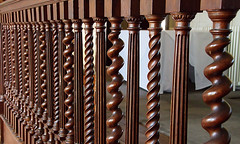 Spindles (Russ Argles) Tags: woo timber spindles stairs balustrades turned spiral canon 70d eos
