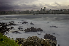 COSTA DE A CORUA, TEMPORAL NOV. 2016 (lourdestorreira) Tags: acorua costa galicia largaexposicin mar martimo ocano olas oleaje paisaje rocas temporal