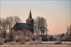 Wintermorgen Eenum (TeunisHaveman) Tags: eenum kerk groninger landschap winter sneeuw rijp groningslandschap
