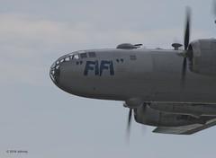 Ooh-la-la (ddindy) Tags: midatlanticairmuseum b29 warbird airplane airshow commemorativeairforce reading pennsylvania fifi boeingb29