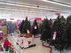 Christmas Forest (Timothy Pitonyak) Tags: kmart retail trenton newjersey merchandise hardlines christmas trees holiday display