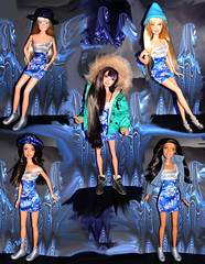 Girl band  (FranBoy Monteiro) Tags: barbie group friends blue girls models model fashion dolls doll toy toys dollcollector toycollector cute super love fun diverso amigas amigos