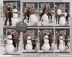 Glamrus . Building A Snow Man With You Key (Glamrus∆) Tags: couple cute gacha chapter four christmas event slevent secondlife second life new newest winter snow snowman adorable together explore glamrus props original mesh addams catwa foxy