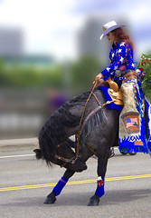 Bow Wow (swong95765) Tags: amazing awesome trick skill ride horse equestrian woman female rider bowing bokeh