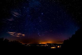Sternenhimmel über Beiersdorf heute abend