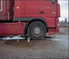 Bielsko-Biaa, Poland. (wojszyca) Tags: mamiya rz67 6x7 120 mediumformat 75mm shift kodak portra 160 gossen lunaprosbc epson 4990 car truck wheel mud