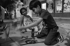 Su primer estecil (Iwakura Akisuki) Tags: estencil stencil feminism kids girl boy niñes niño niña blackandwhite blancoynegro