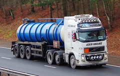 VOLVO FH - ASKIN HAULAGE Huddersfield West Yorks. (scotrailm 63A) Tags: lorries trucks tankers