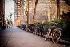 Walked away. (Igor Danilov Philadelphia) Tags: walking philadelphia 18th street square bicycles silhouette christmas day lonely away aside off remote far warm winter usa america pennsylvania nikon dslr 50mm d700 sunday