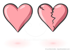 Love and Broken Heart (clipartillustration) Tags: red art love true modern illustration emblem happy togetherness design day married heart symbol anniversary object unity decoration style romance celebration event relationship ornament amour harmony passion friendly forever cupid date february darling greeting vector eps editable