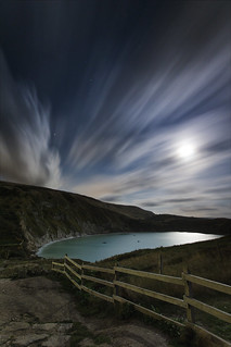 Lulworth Cove by Moonlight