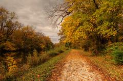 An Autumnal Day along the Hennepin Canal (kendoman26) Tags: autumn fall leaves fallcolor fallcolors autumncolors hdr towpath photomatix sonyalpha enjoyillinois travelillinois sigma1850f2845 sonya57 sonyslta57