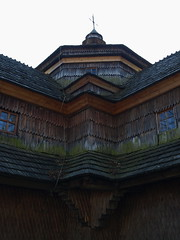 Wooden structure of the Orthodox Church in Jasinia (pavel B.) Tags: church ukraine czarnohora