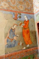 Pinturas murales en el Palacio Ali Qapu Isfahn Irn 04 (Rafael Gomez - http://micamara.es) Tags: en mural iran paintings persia el palace ali  murales   paredes isfahan pinturas palacio irn frescos   qapu     isfahn qapur