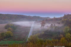 Valley Fog (kevin-palmer) Tags: morning autumn trees fall colors fog sunrise early illinois twilight october colorful foggy foliage clear bluffs beltofvenus jimedgarstatepark casscounty kevinpalmer tamron1750mmf28 hillprairie chandlerville pentaxk5