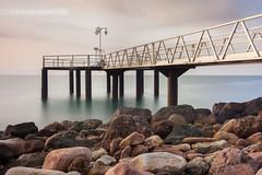 mcamposfoto_Xilxes2_ (1 de 1) (mcamposfoto) Tags: sea beach puente mar agua nikon long exposure playa amanecer nd f28 rocas density larga castellón exposición gradual 2470mm nd400 kenko neutra densidad xilxes chilches d700 mcamposfoto