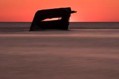 _XT12541-Edit.jpg (neech_2000) Tags: ocean longexposure sunset beach water sunrise coast newjersey sand waves unitedstates shipwreck northamerica capemay