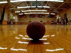 Thursday Walk 2: Extra ball (Thiophene_Guy) Tags: basketball forcedperspective lowperspective hamiltonny originalworks colgateuniversity groundperspective thursdaywalk floorperspective thiopheneguy xz1 olympusxz1 nov2014 yodography utata:project=tw447