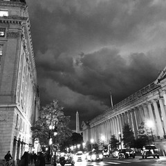 """""""The moment you become embarrassed of who you are, you lose yourself."""" ―Reuben Tishkoff ⛈ (anokarina) Tags: appleiphone6 instagram autumn whitehouse washingtonmonument storm blackwhite bw dcist clouds night franklinmcphersonsquare"""