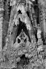 Templo de la Sagrada Familia (Eva Ceprián) Tags: barcelona blackandwhite españa blancoynegro architecture spain arquitectura gaudí sagradafamilia nikond3100 evaceprián