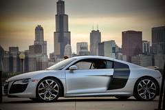Audi V10 (OstyleProductions) Tags: chicago car skyline nikon skies audi v10 sportscar fastcars ostyleproductions ostylefilms