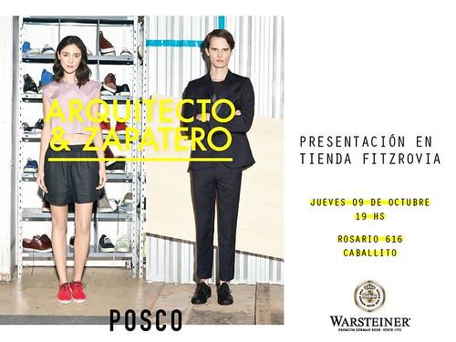 Posco presenta - Arquitecto y Zapatero en tienda Fitzrovia CABA-