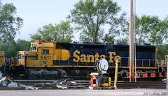 East Topeka Dead Line Survivors (Jeff Carlson_82) Tags: railroad santafe train railway storage kansas topeka gn lugo railfan bnsf lubo emd atsf burlingtonnorthernsantafe stored 6511 sd452