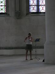 Lippstadt. Marienkirche (photobeppus) Tags: girls music germany churches nrw donne marienkirche players nordrheinwestfalen germania flutes lippstadt musicisti chiese edificistorici centristorici flautisti