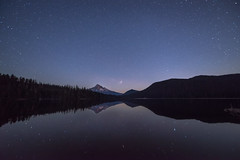 The Lost Lake (TheFella) Tags: travel trees sky usa mountain lake snow reflection slr water night oregon digital america forest photoshop reflections stars landscape photography star us photo nikon nightscape unitedstates snowy unitedstatesofamerica astro snowcapped nighttime galaxy photograph astrophotography processing pacificnorthwest northamerica nightsky states dslr constellations cosmos mounthood lostlake constellation d800 postprocessing starscape travelphotography mounthoodnationalforest hoo