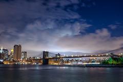 Stormy night in NYC (BrianEden) Tags: sunset sky newyork fuji unitedstates dumbo financialdistrict eastriver fujifilm lowermanhattan x100s brianedenphotography