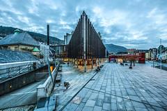 Grieghallen by night. Bergen, Norway. (www.francescaalviani.com) Tags: oktober norway architecture norge hall concert bergen architettura norvegia nygrdsgaten grieg 2014 grieghallen knudmunk